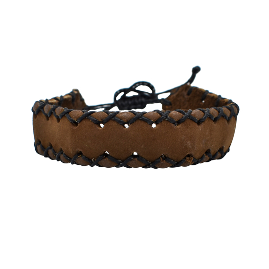 Picture of leather scout bracelet