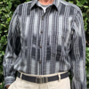 Picture of long sleeve ikat shirt